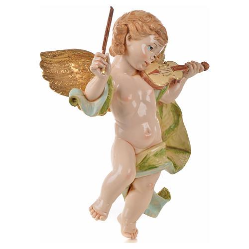 Ángel con violín Fontanini cm. 27 símil porcelana 2