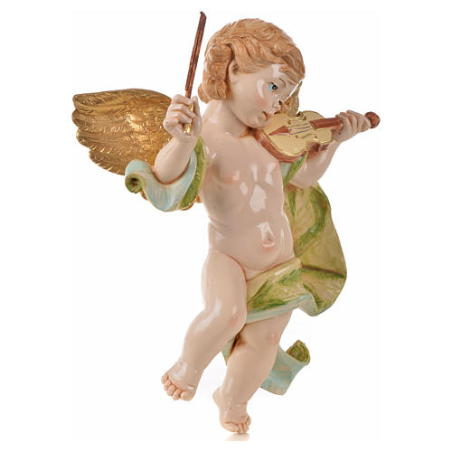 Angelo con violino Fontanini cm 27 tipo porcellana 2