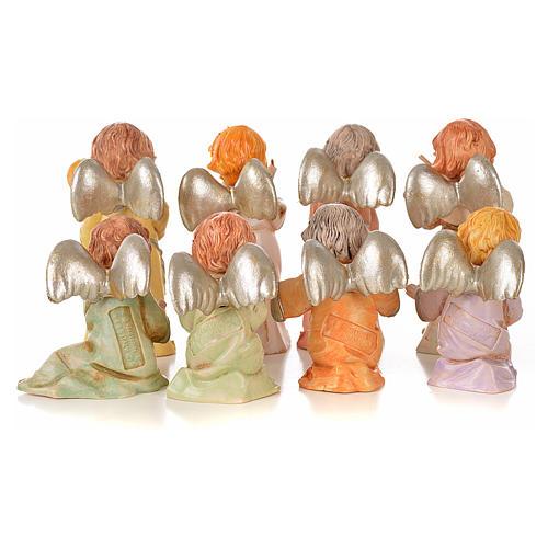 Angeli 8 pz Fontanini cm 7,5 tipo porcellana 2