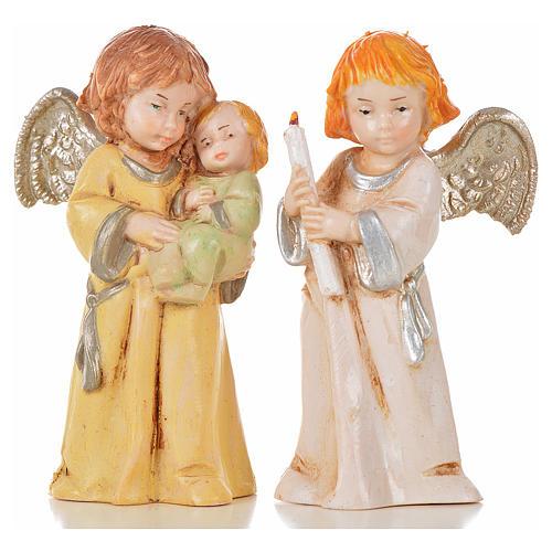 Angeli 8 pz Fontanini cm 7,5 tipo porcellana 9