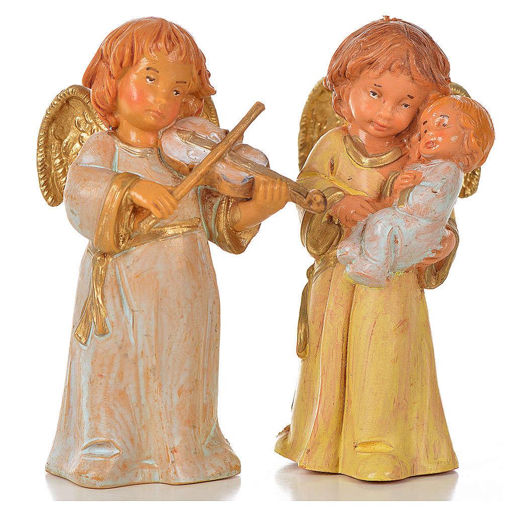 Anioły Fontanini 8 szt. cm 7.5 3