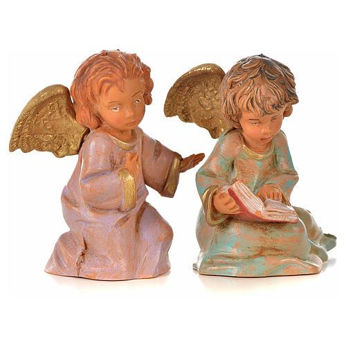 Anioły Fontanini 8 szt. cm 7.5 6
