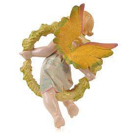 Ángel de la primavera con flores Fontanini símil porcelana para belén de altura media 17 cm s2