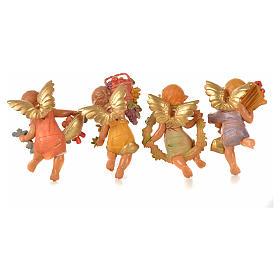 Angeli delle Stagioni 4 pz Fontanini per presepe di altezza media 12 cm s2