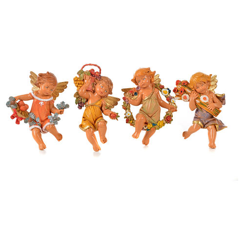 Angeli delle Stagioni 4 pz Fontanini per presepe di altezza media 12 cm 1