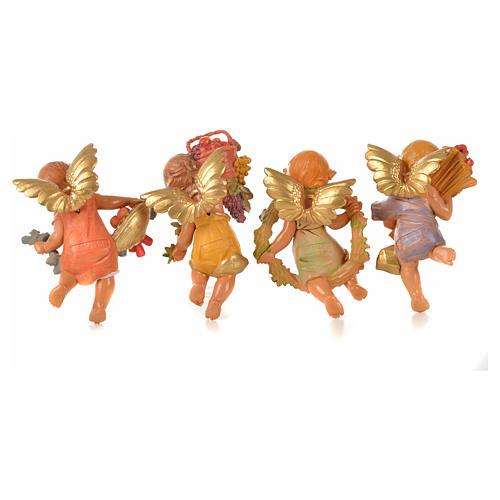 Angeli delle Stagioni 4 pz Fontanini per presepe di altezza media 12 cm 2