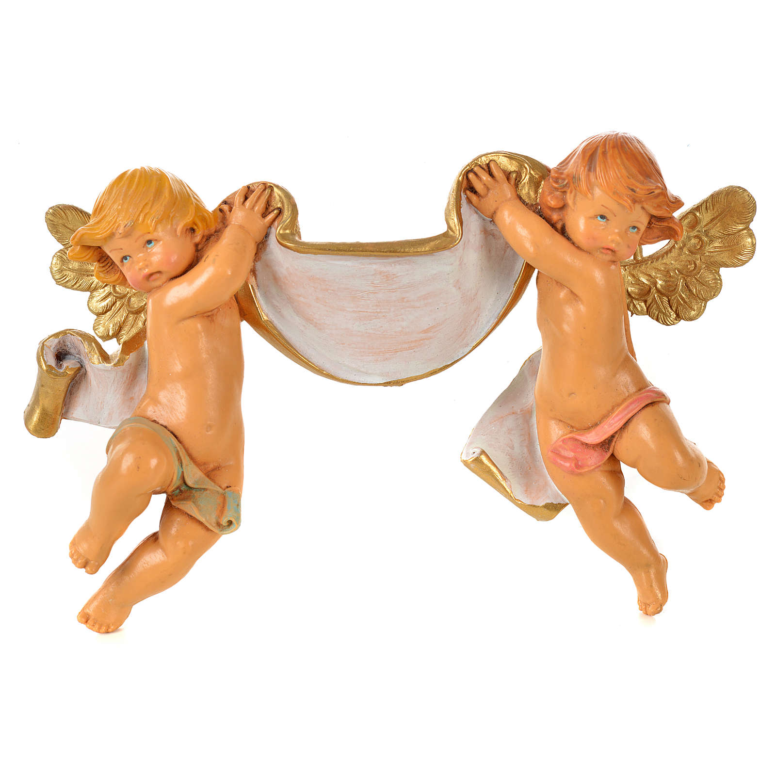 Coppia Angeli con pergamena Fontanini cm 9x15 3