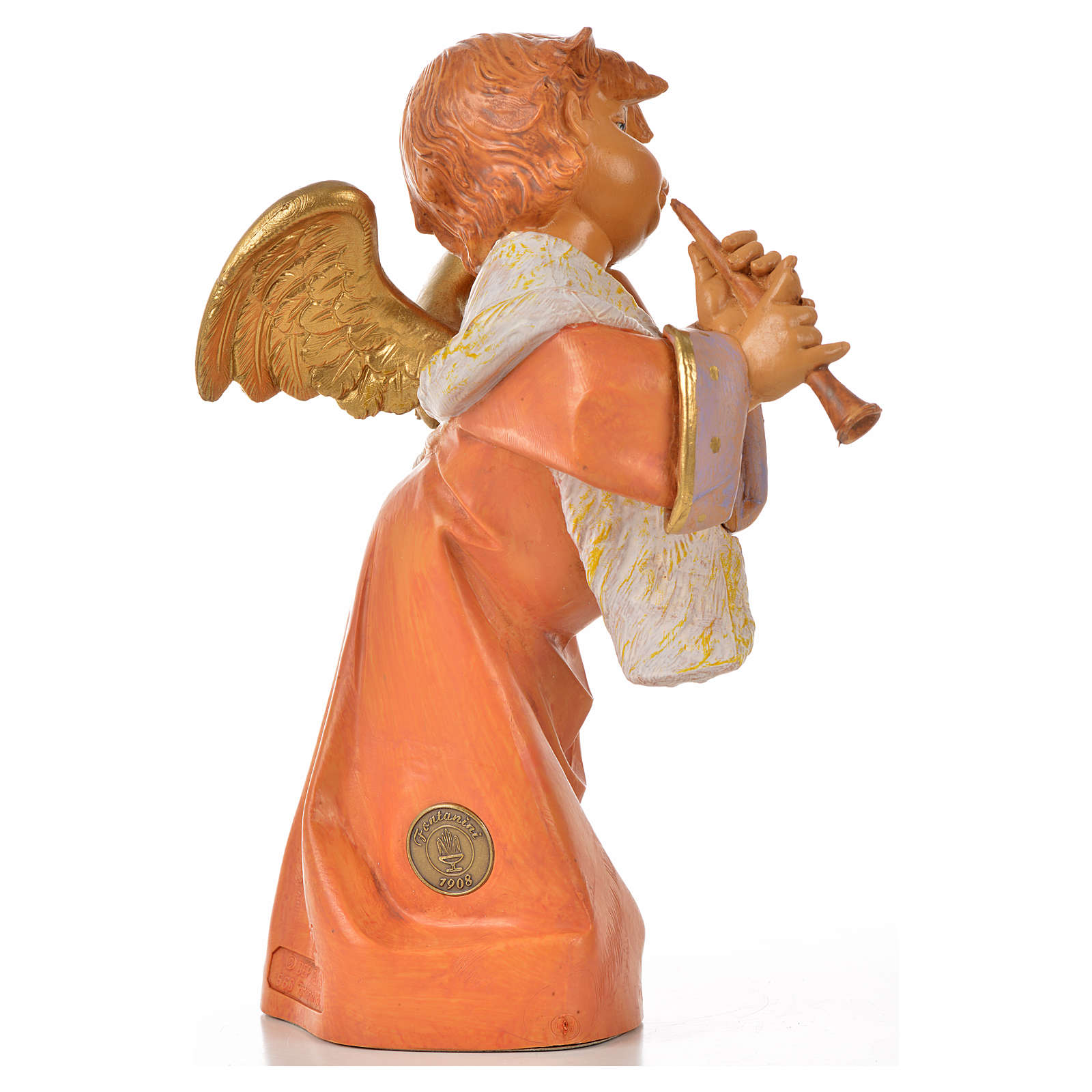 Angelo con flauto Fontanini cm 20.5 3