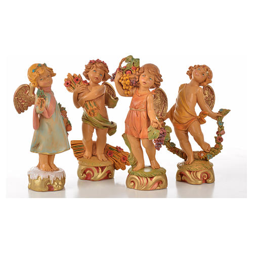 Angeli delle Stagioni 4 pz Fontanini cm 17 1