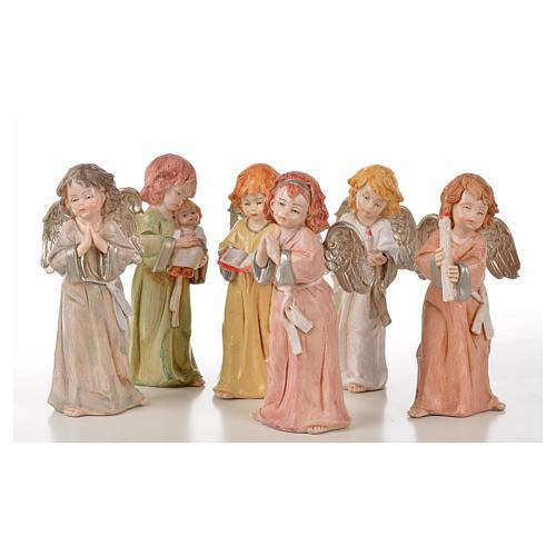 Angeli in piedi 6 pz Fontanini cm 15 tipo porcellana 1