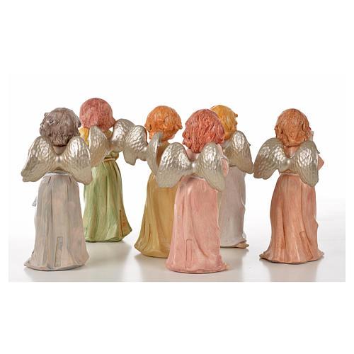 Angeli in piedi 6 pz Fontanini cm 15 tipo porcellana 2