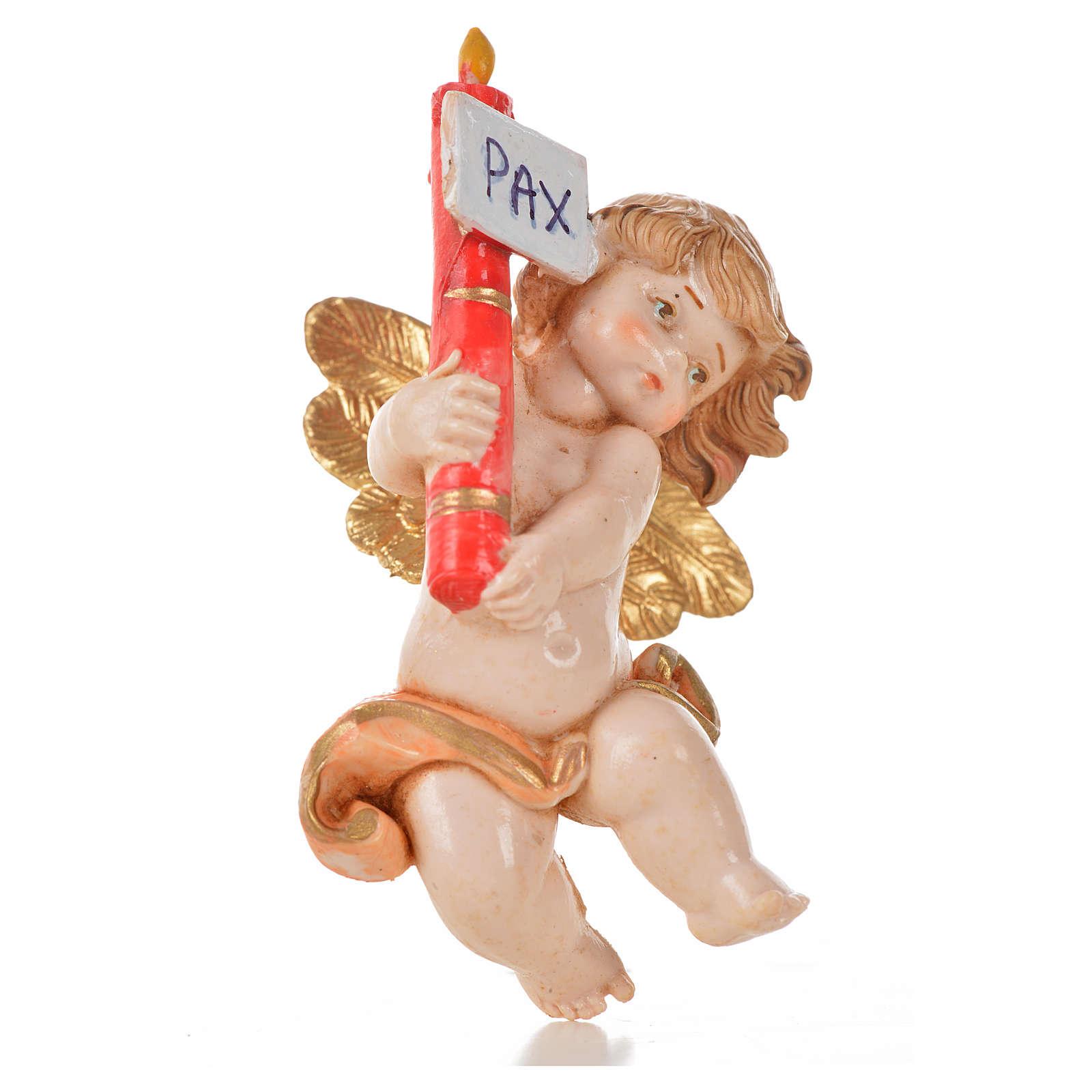 Anioł świeca Pax różowy Fontanini cm 7 typu porcelana 3