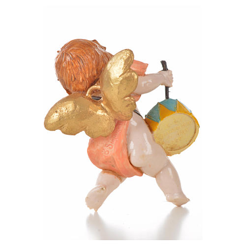 Ange rose avec tambour 7 cm Fontanini type porcelaine 2