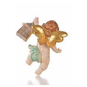 Anjo com lanterna azul Fontanini 7 cm efeito porcelana s2