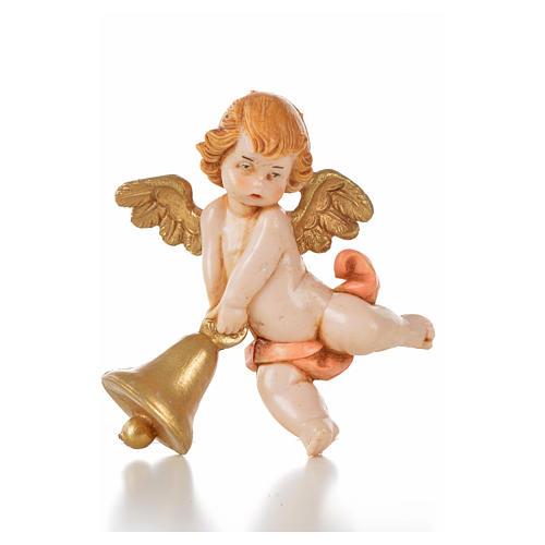 Angelo campana rosa Fontanini 7cm tipo porcellana 1