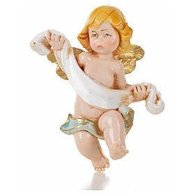 Ángel con paño azul Fontanini 7 cm. símil porcelana s1