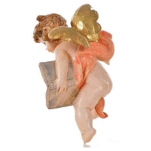 Angelo con libro rosa Fontanini 7cm tipo porcellana 2