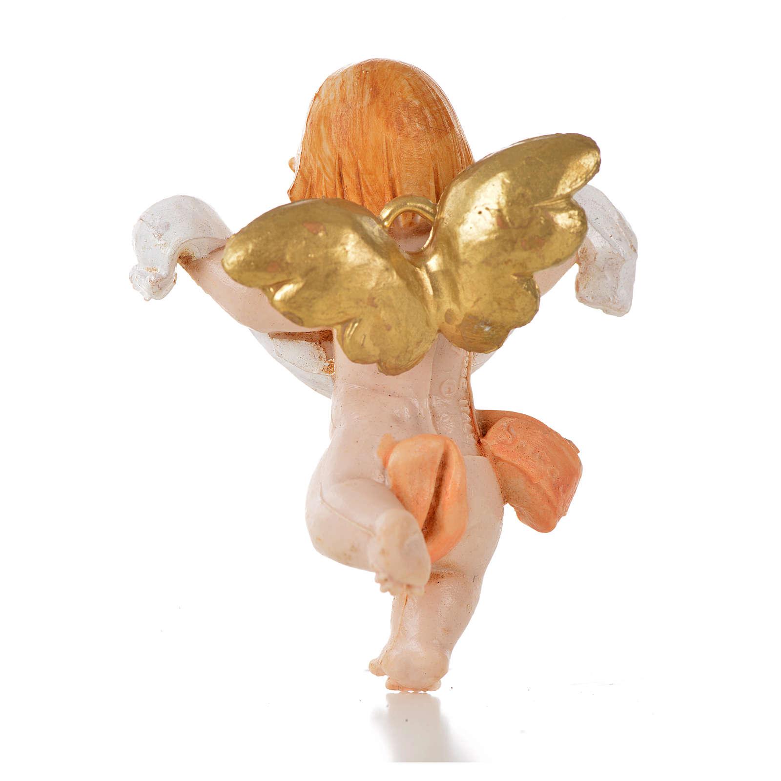 Angelo rosa drappo Fontanini 7cm tipo porcellana 3