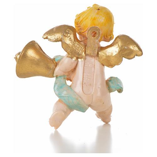 Angelo campana blu Fontanini 7cm tipo porcellana 2