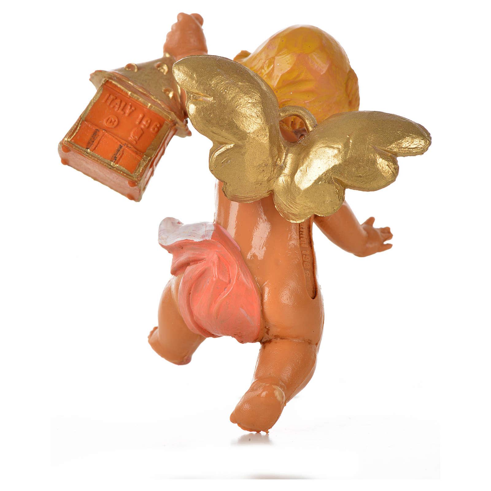 Angelo con lanterna rosa Fontanini 7cm 3