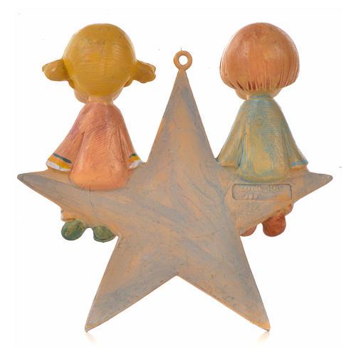 Angelot sur étoile 9 cm Fontanini 2
