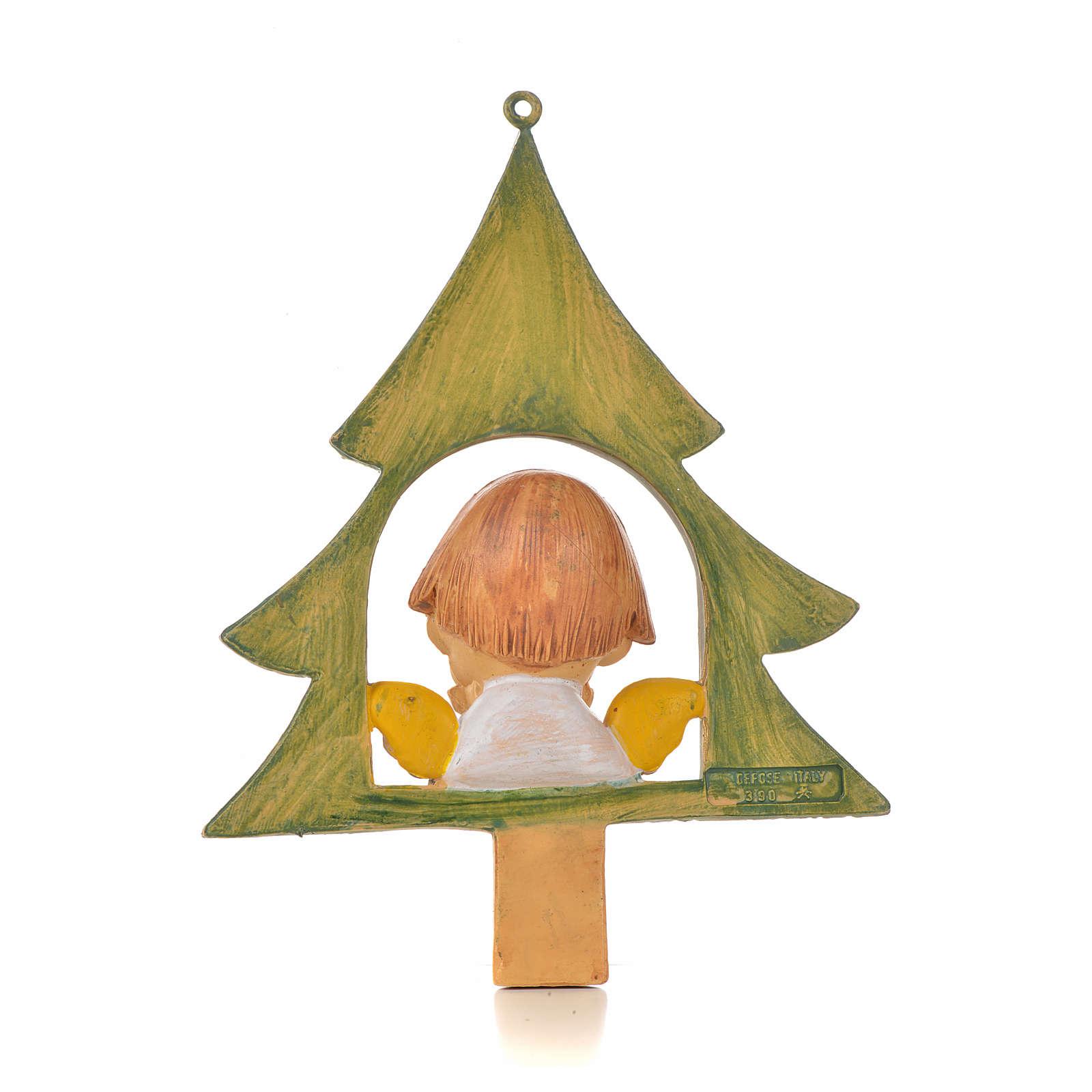 Angelito con árbol de navidad cm. 9 Fontanini 3