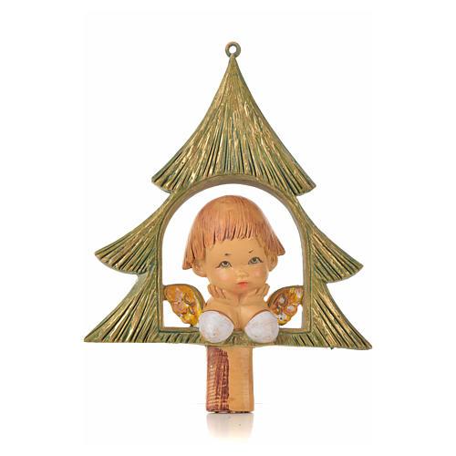 Angelito con árbol de navidad cm. 9 Fontanini 1