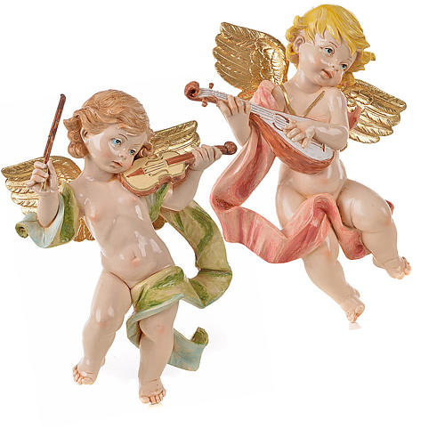 Anges musiciens 27 cm Fontanini 2 pcs 1