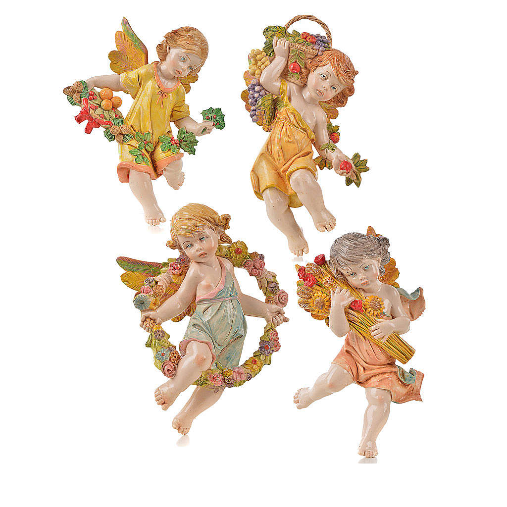 Angeli 4 stagioni da appendere Fontanini cm 17 3