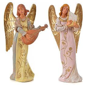 Anges musiciens 30 cm Fontanini 2 pcs s1