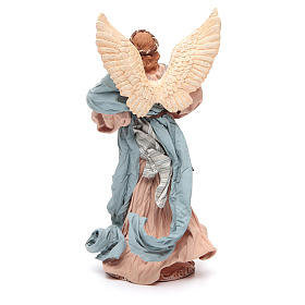 Angel 37 cm in resin with harp s3