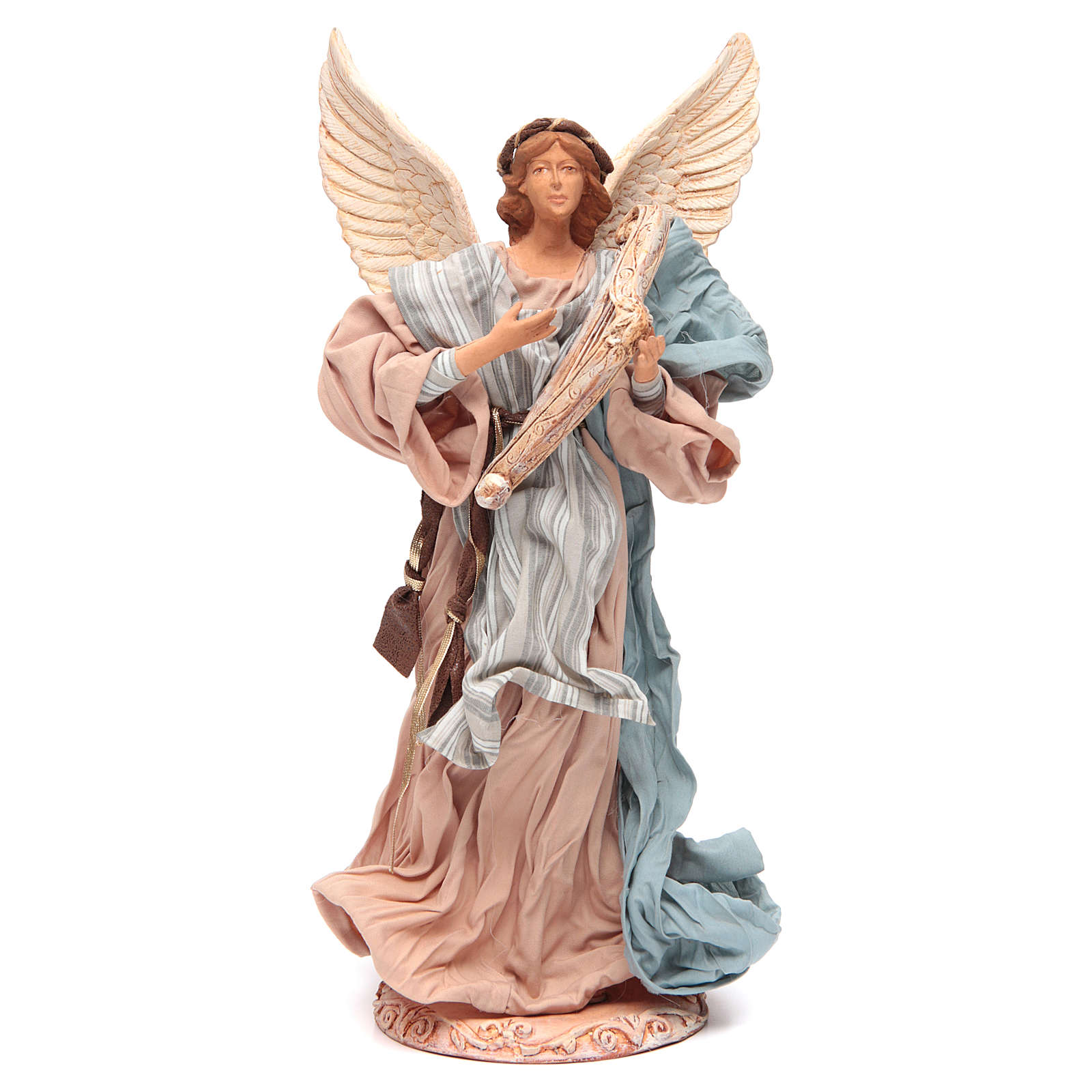 Angel 37 cm in Resin Playing Harp 3