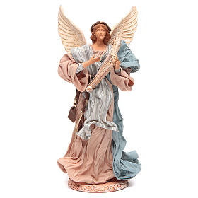 Angel 37 cm in Resin Playing Harp s1