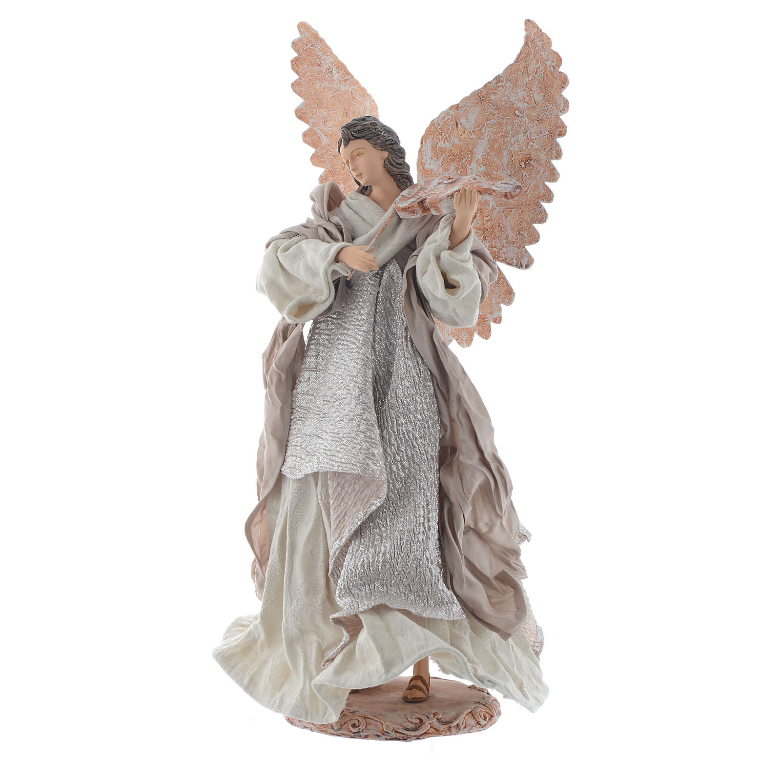 Angel 40 cm in resin with violin 3