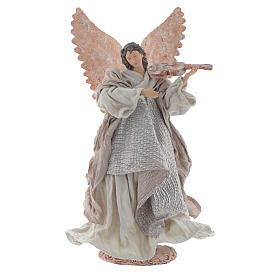 Angel 40 cm in resin with violin s1