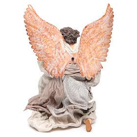 Angel 40 cm in resin kneeling with harp s3
