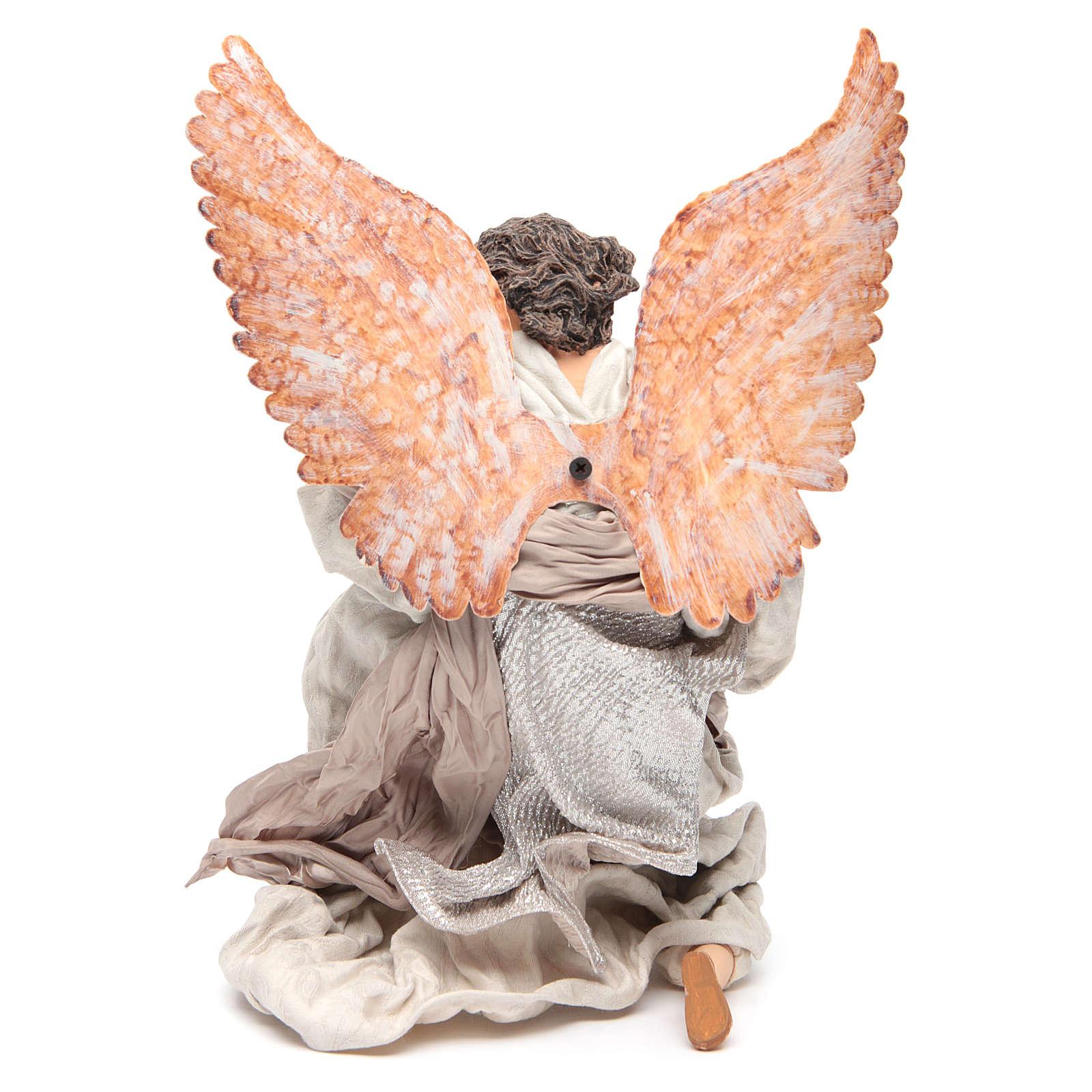 40 cm Angel in Resin Kneeling With harp 3