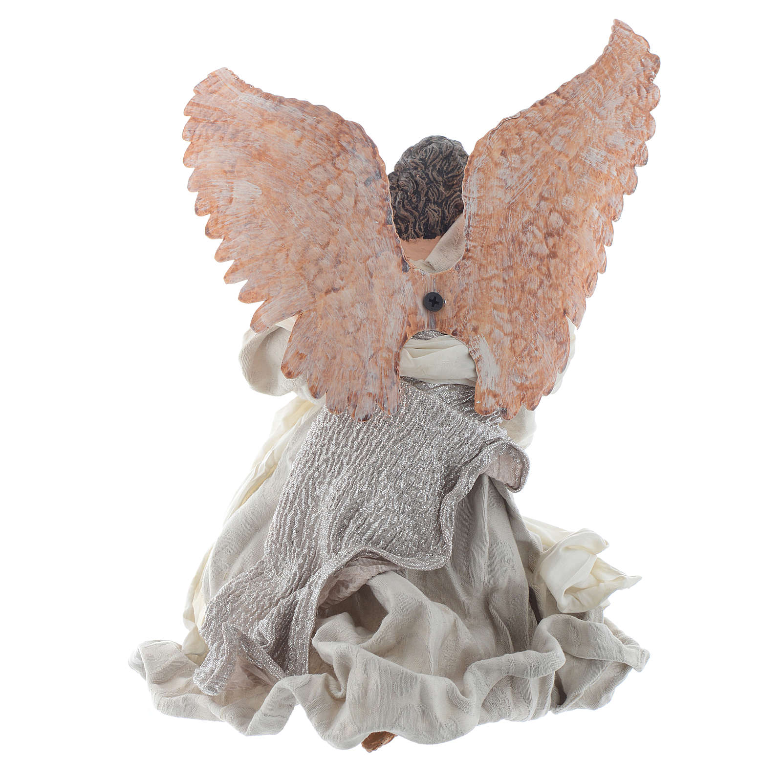 Resin Angel 30 cm Kneeling with Lyre 3