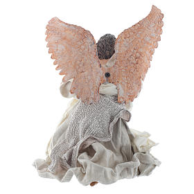Resin Angel 30 cm Kneeling with Lyre s3