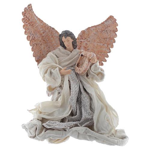 Resin Angel 30 cm Kneeling with Lyre 1