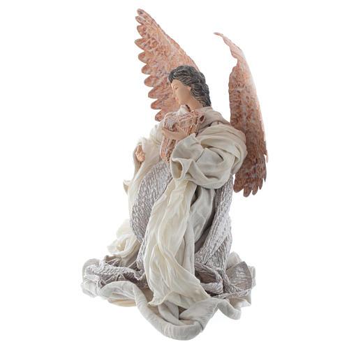 Resin Angel 30 cm Kneeling with Lyre 2
