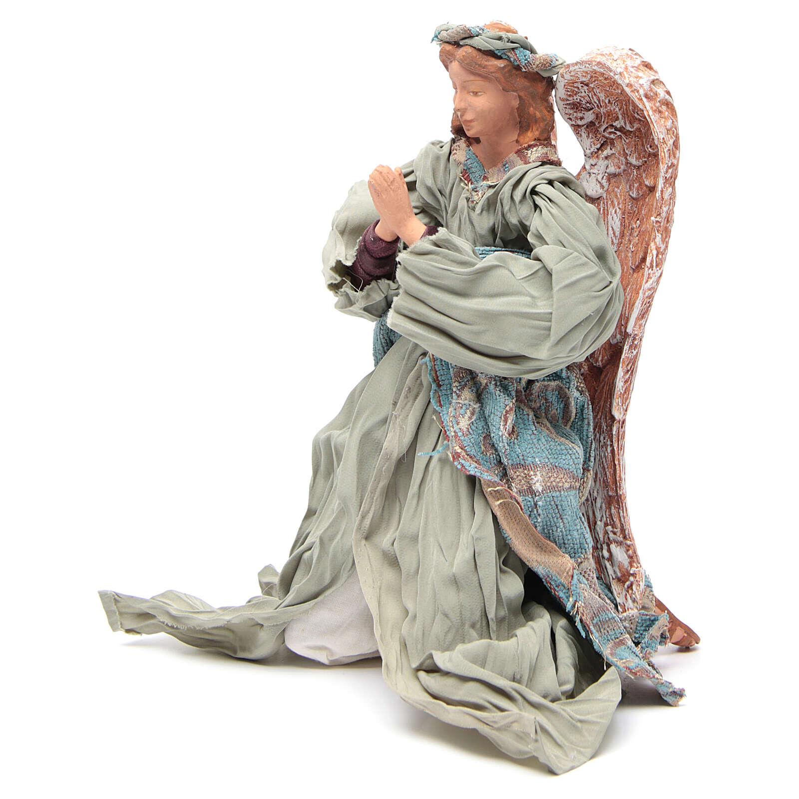 Anjo shabby chic em oração 30 cm 3