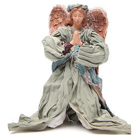 Anjo shabby chic em oração 30 cm s1