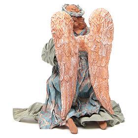 Anjo shabby chic em oração 30 cm s3
