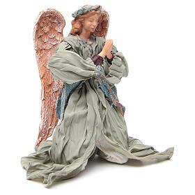 Anjo shabby chic em oração 30 cm s4