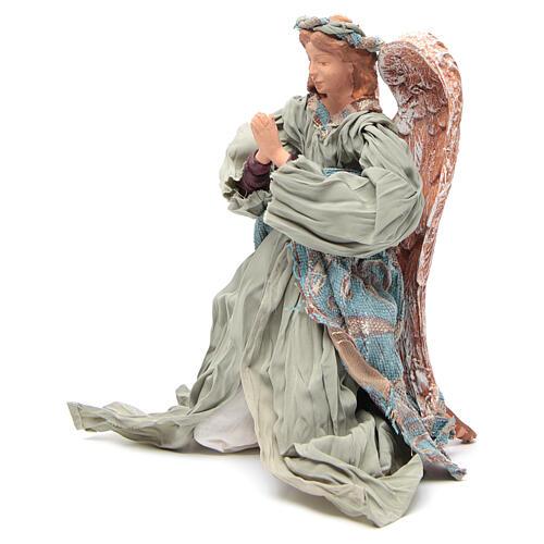 Anjo shabby chic em oração 30 cm 2