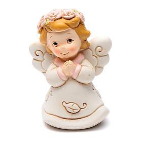 Angel praying pink in resin 6 cm s1
