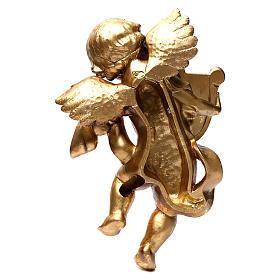 Angelo Oro foglia 40 cm con l'arpa s5