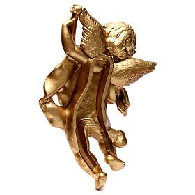 Ange Or feuille avec violon 40 cm s4