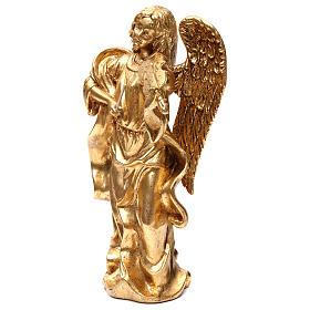 Angelo in piedi 35 cm oro foglia s3